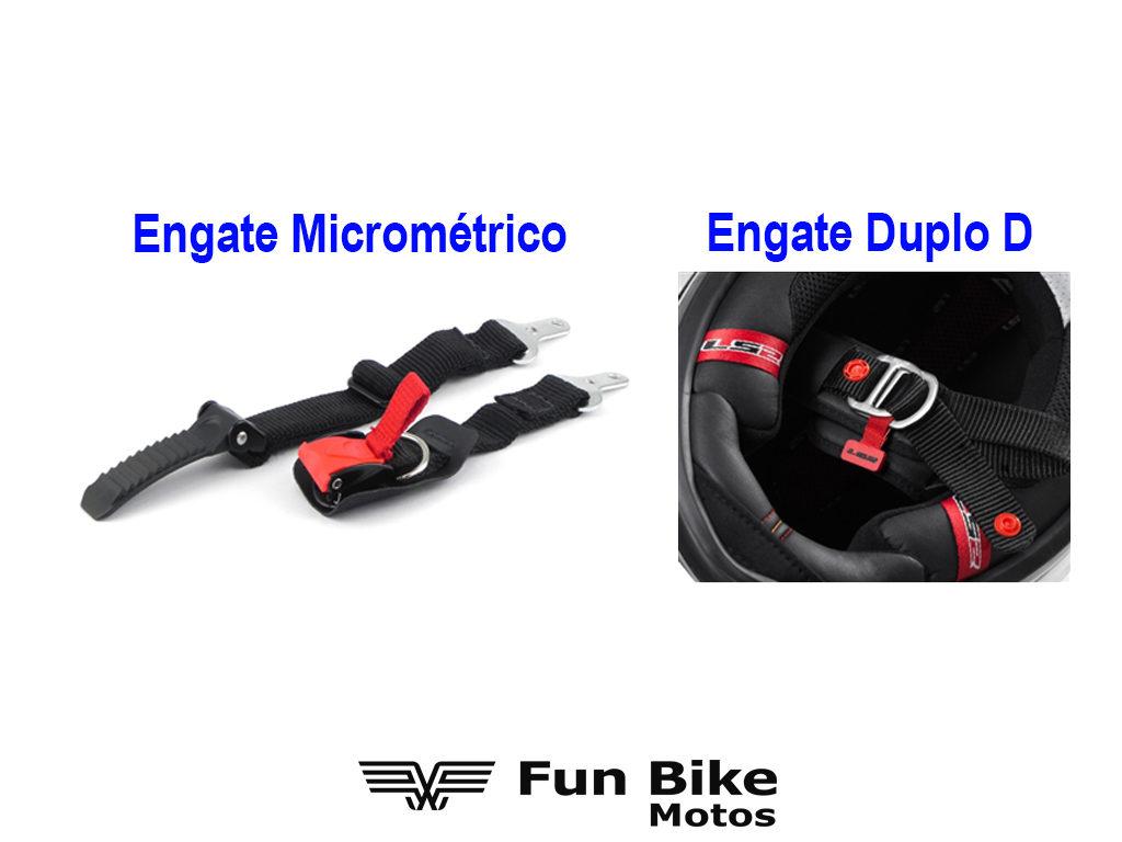 A imagem mostra o engate Micrométrico e o engate Duplo D.
