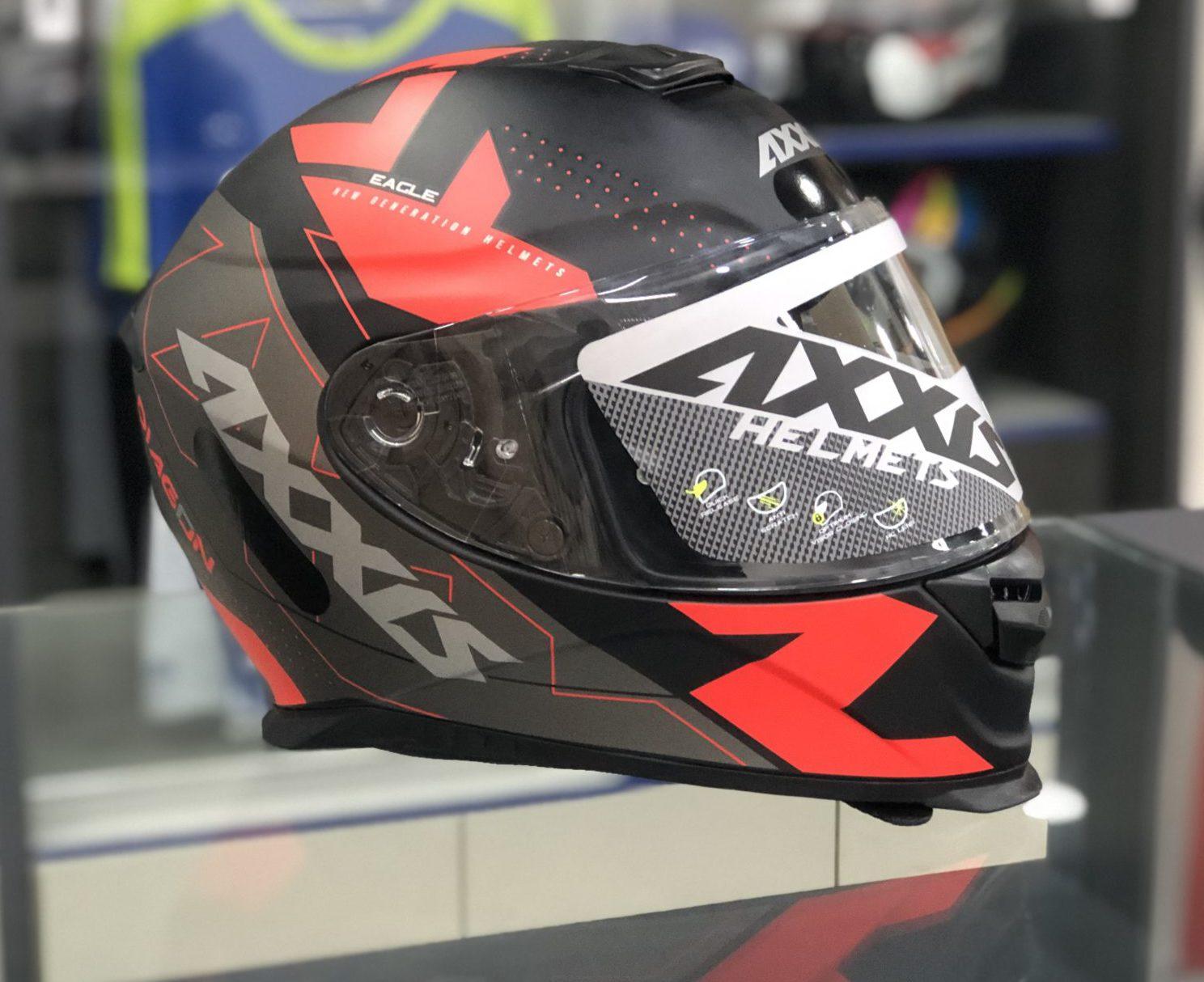 Axxis Eagle Diagon – Vermelho e Preto Fosco
