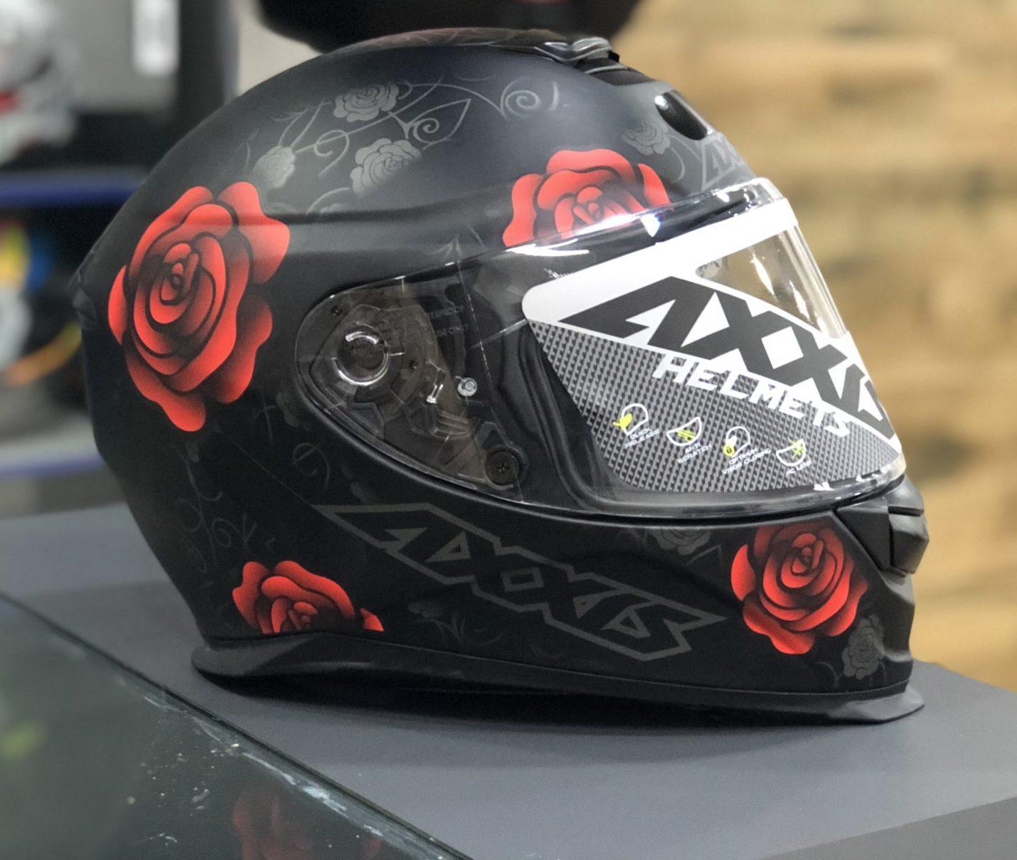 Axxis Eagle Flowers – Preto fosco com flores