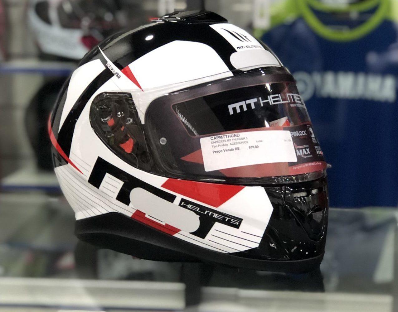 MT Thunder 3 – Preto, branco e vermelho